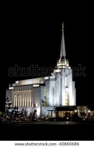 Temple of the Church of Jesus Christ of Latter-Day Saints - stock photo
