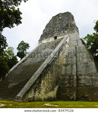 Temple of the mayan culture in Tikal, Guatemala (Temple No. 5)
