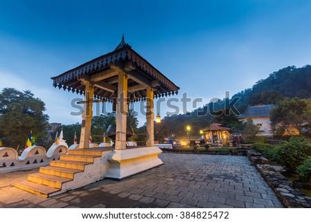 Temple of the Tooth, Kandy, Sri Lanka - stock photo