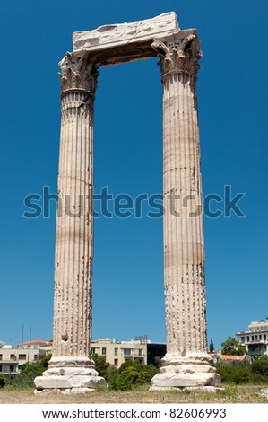 Temple of Zeus, Athens, Greece - stock photo