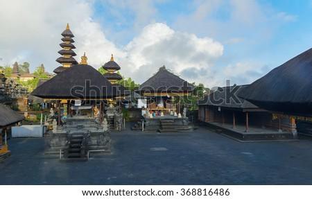 Temple Pura Besakih in Bali, Indonesia  - stock photo