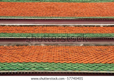 Temple roof - stock photo