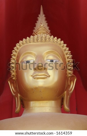 Temple statue, Ko Samui - stock photo