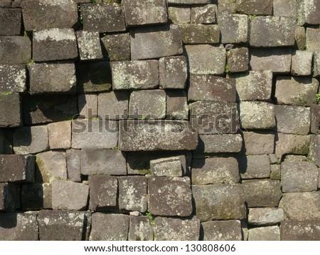 temple stone construction of candi kalasan - stock photo