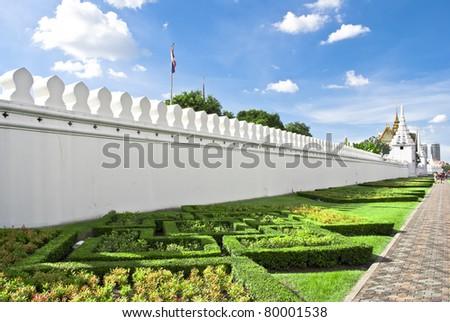 Temple Wall at Thailand - stock photo