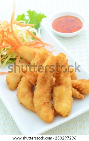 tempura Chicken 3 - stock photo