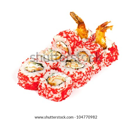 "Tempura ""poppies"" isolated on white background."