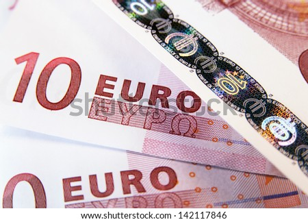 Ten euro banknote as a background