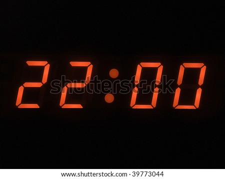 ten o clock pm - stock photo