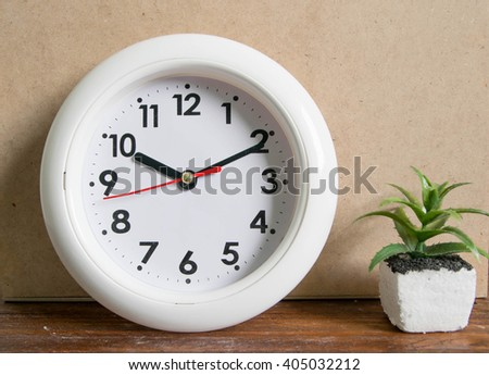 ten o'clock ten minute  vintage - stock photo