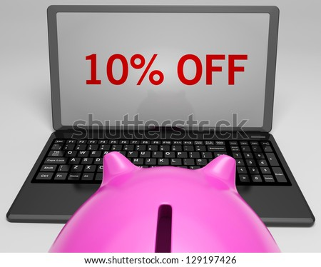 Ten Percent Off On Notebook Shows Discounts And Promotions