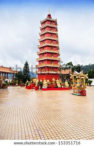Ten Thousand Buddhas Monastery (Man Fat Tsz) in Sha Tin, Hong Kong - stock photo