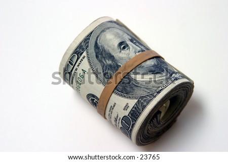 Ten Thousand Dollars American Cash - stock photo