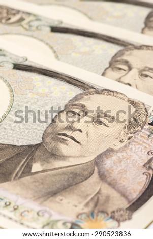 ten thousand yen, close up - stock photo