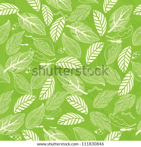 tender green floral seamless pattern