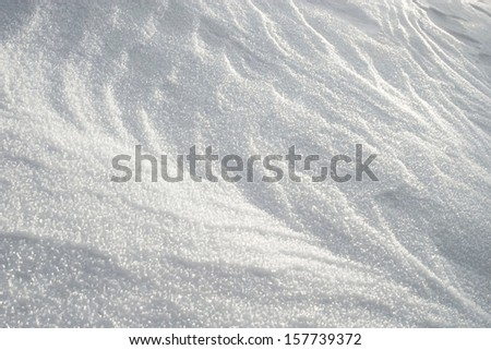 Tender White Snow Pattern