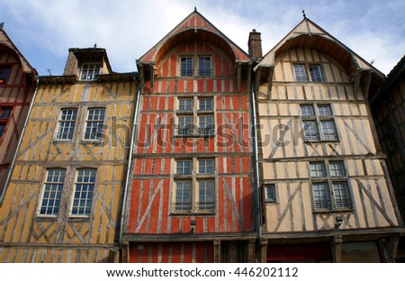 tenement house in old town of Troyes, France