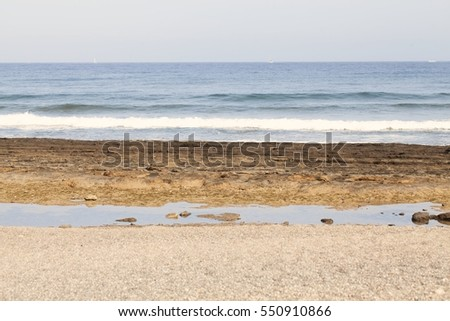 tenerife beach.. Fashion, travel, summer, vacation and tropical beach concept.