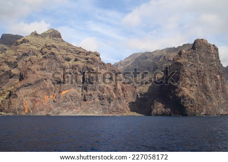 Tenerife - The Cliffs of Los Gigantes - stock photo