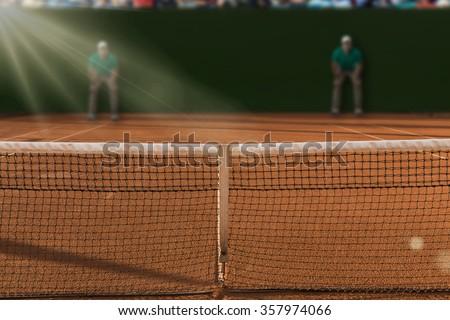 Tenis court Stadium. - stock photo