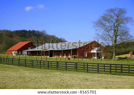 Tennessee Farmland in Winter near Franklin Tennessee ,