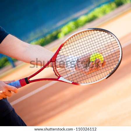tennis - stock photo