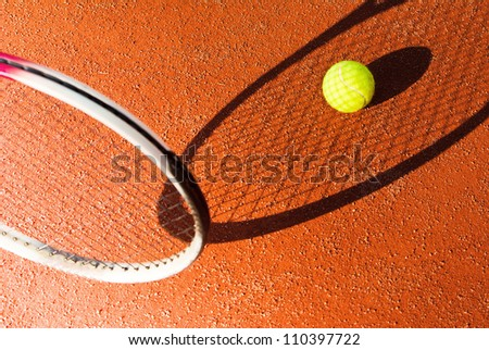 tennis abstract background - stock photo
