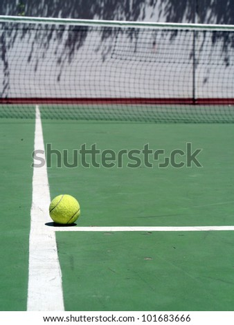 tennis and ball - stock photo