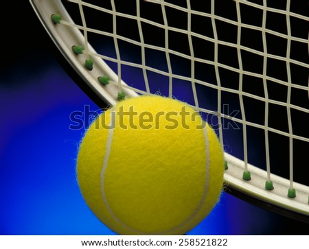 Tennis background concept.Tennis racket and ball. - stock photo