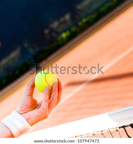 tennis ball abstract