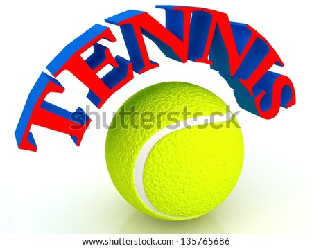 Tennis ball in 3D