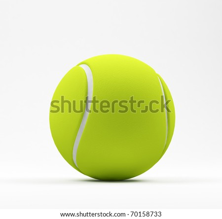 Tennis ball on white.