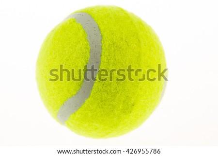 tennis ball on white background - stock photo