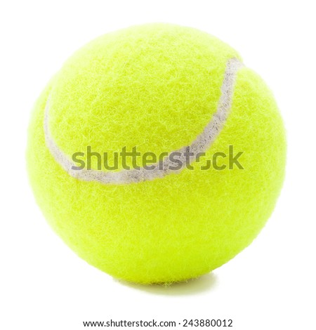 Tennis ball with shadow - stock photo