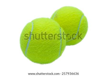 tennis balls isolated on white background. - stock photo