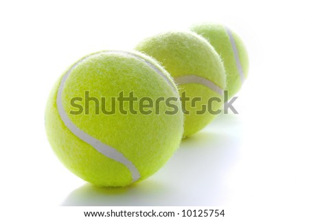 Tennis balls on a white background