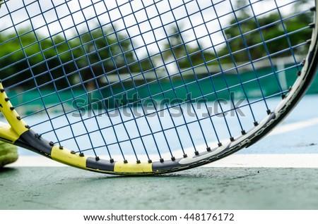 tennis court background - stock photo