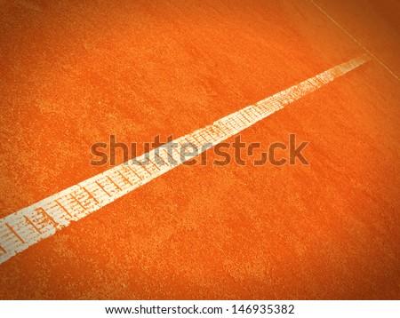 tennis court line 150 - stock photo