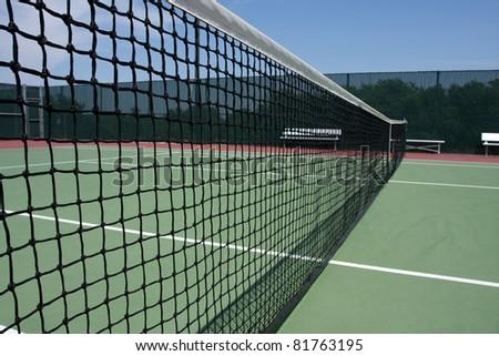 Tennis Court Net Close up - stock photo