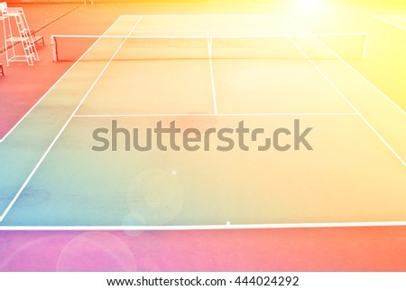 Tennis Court sport outdoor with color filters - stock photo