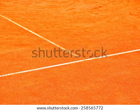 tennis court t-line  - stock photo
