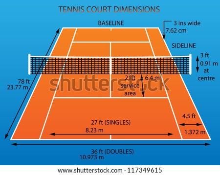 Mini tennis court dimensions