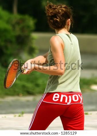 Tennis enjoy - stock photo