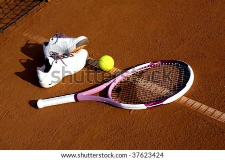 Tennis equipment - stock photo