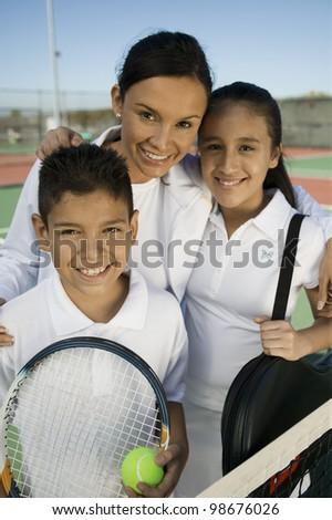 Tennis Family - stock photo