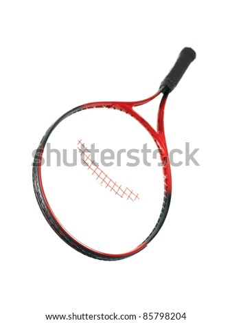Tennis iquipment isolated against a white background - stock photo