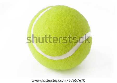 tennis isolated a white - stock photo