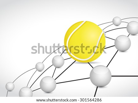 tennis link sphere network connection concept illustration design graphic background - stock photo