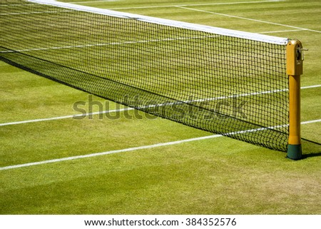 Tennis net and court  - stock photo