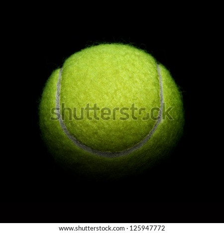 Tennis on black background